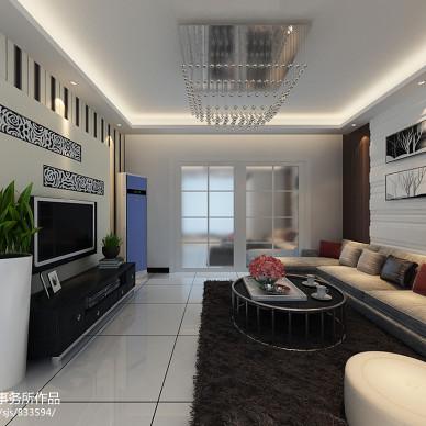 室内家装混搭狭长客厅装修效果图