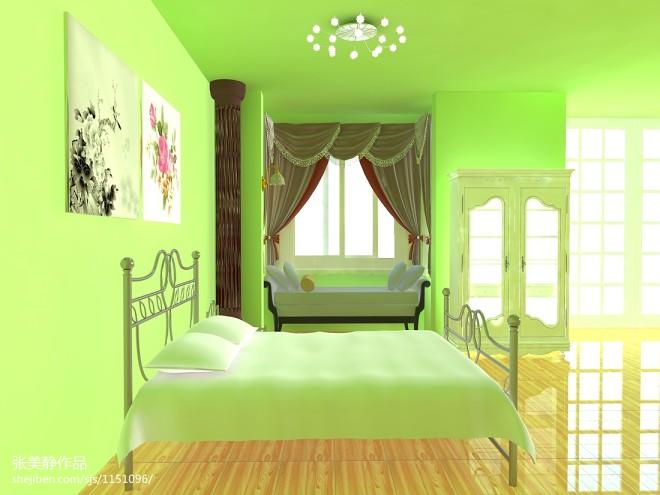 现代清新小卧室装修效果图
