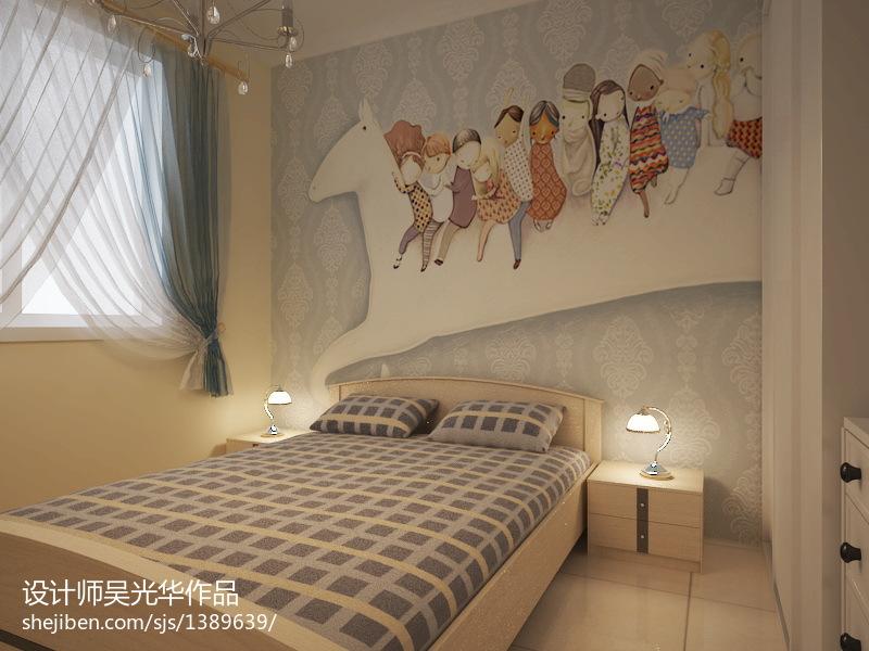 广州室内手绘墙画_儿童房时尚设计室内手绘墙画图片 – 设计本装修效果图