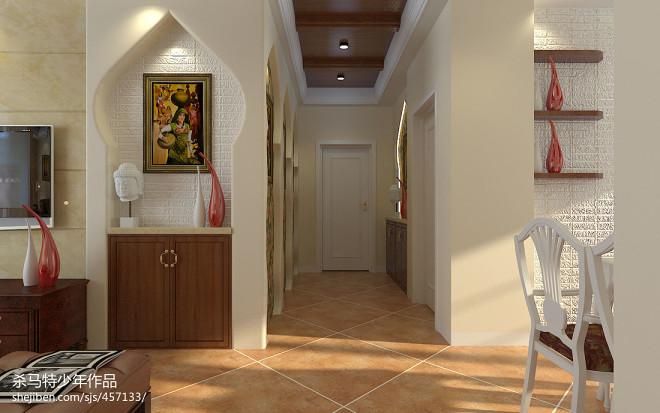 三居室东南亚过道设计效果图