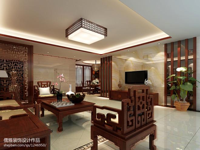 中式背景墙装修效果图库