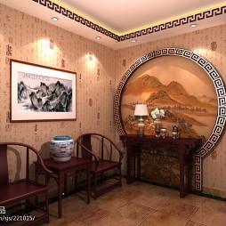 中式红酸枝红木家具效果图片