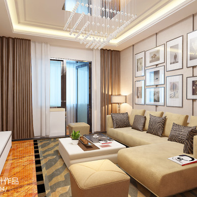 70平米两室一厅装修效果图片欣赏