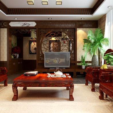 易仟装饰-别墅-中式风格