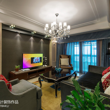 新古典风格家装客厅电视背景墙装修
