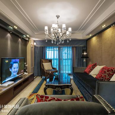 新古典风格家装客厅窗帘图片