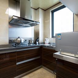 新古典风格厨房不锈钢台面装修图片