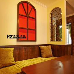 美式婚房餐厅沙发布置效果图