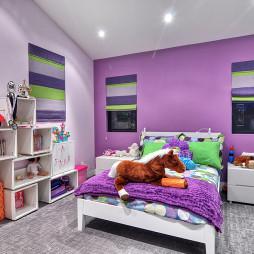 紫色儿童房装饰设计图片
