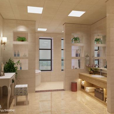 简约美式家装卫生间效果图