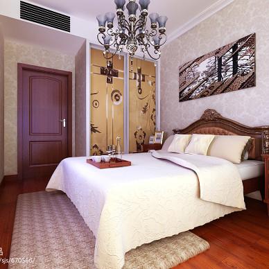 欧式三居室卧室衣柜效果图