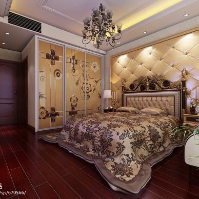 时尚欧式卧室衣柜装修效果图