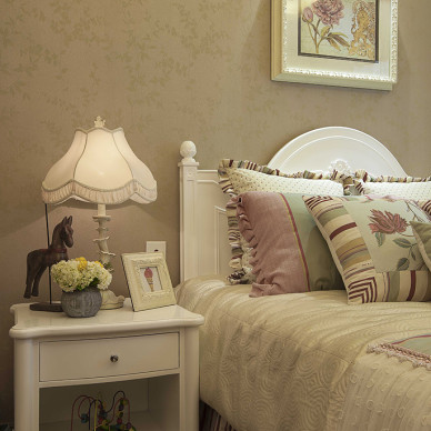 简欧卧室床头灯图片