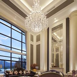 别墅新古典客厅水晶灯装修效果图大全2017图片