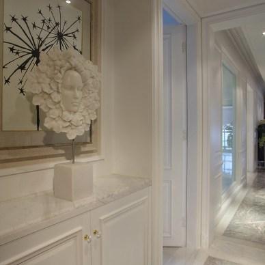 美式风格样板房过道装修效果图欣赏
