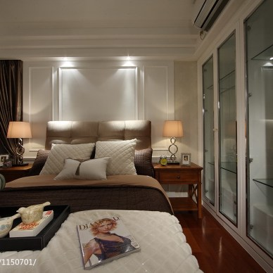 美式卧室样板房装修图片