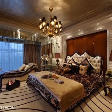 欧式卧室样板房图片