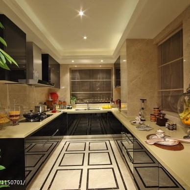 奢华欧式厨房样板房设计