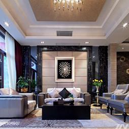混搭奢华客厅装修设计