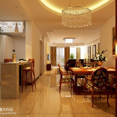 新中式餐厅吧台吊灯效果图
