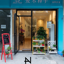 美式风格美甲店大门装修效果图欣赏