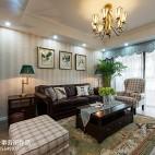 简约美式风格客厅设计效果图