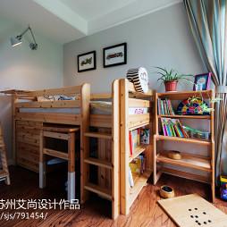 美式儿童房博古架装修效果图大全