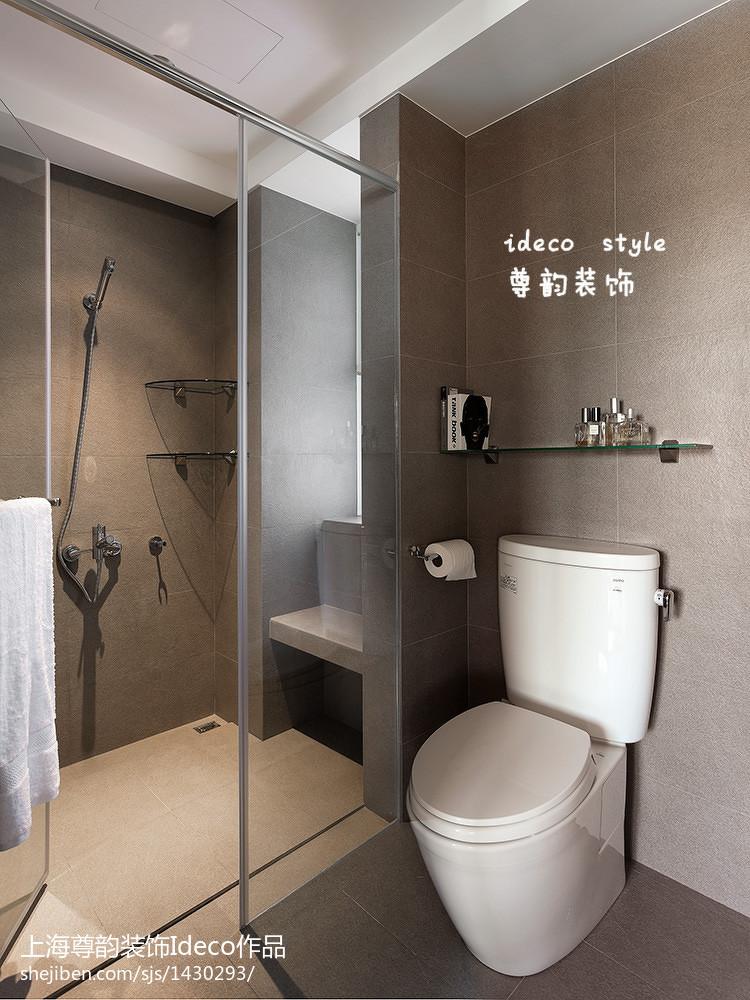 混搭卫生间玻璃隔断墙图片 设计本装修效果图