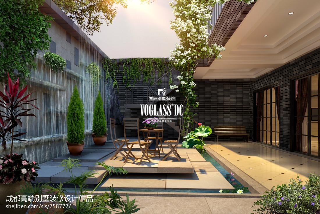 欧式别墅庭院设计_中式豪华别墅庭院设计图片 – 设计本装修效果图