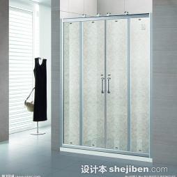 钛镁合金卫生间折叠门