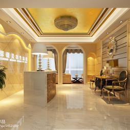 美容spa会所门厅吊顶装修设计