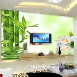 绿色电视墙壁纸图片