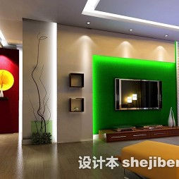 绿色时尚电视墙壁纸