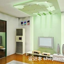 绿色现代风格电视墙壁纸
