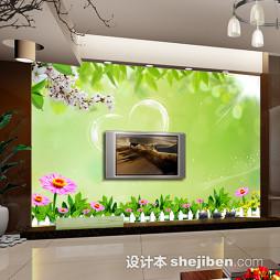 绿色装修电视墙壁纸