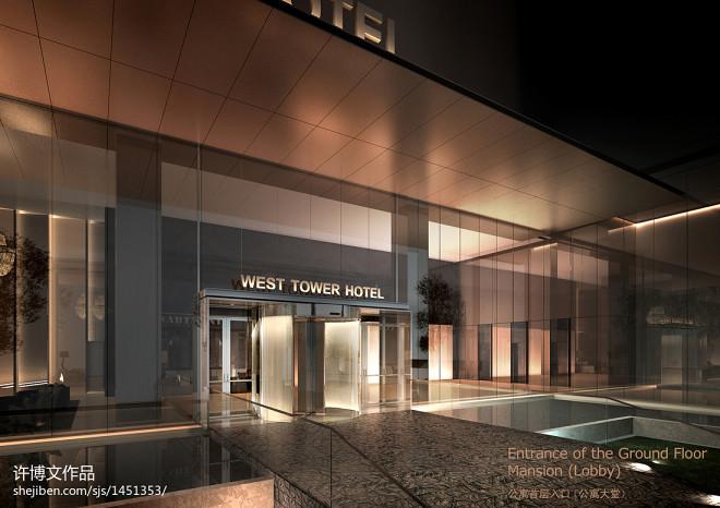 西安南洋大酒店_1000万元酒店空间8000平米装修案例_效果图 - 酒店外立面设计 - 设计本
