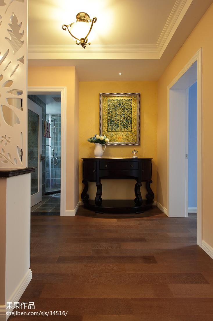 阳台石膏板吊顶图片_简单美式门厅石膏板吊顶效果图 – 设计本装修效果图