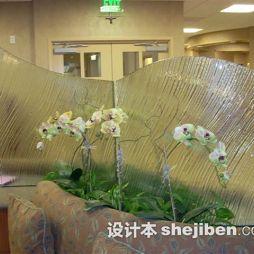 磨砂玻璃隔断设计图片