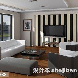 黑白壁纸电视墙图