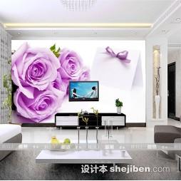 紫色壁纸电视墙装修效果图大全