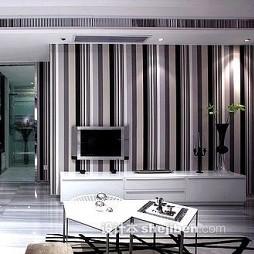 简单竖条壁纸电视墙图片