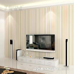 竖条客厅壁纸电视墙图片