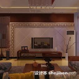 菱形瓷砖电视墙设计
