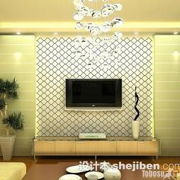 菱形瓷砖电视墙效果图