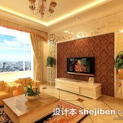 菱形瓷砖电视墙装修效果图
