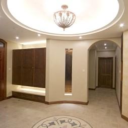 豪华门厅圆形吊顶造型效果图