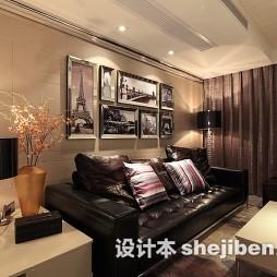 沙发背景墙照片墙落地灯设计图