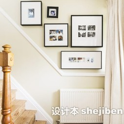 楼梯照片墙效果图