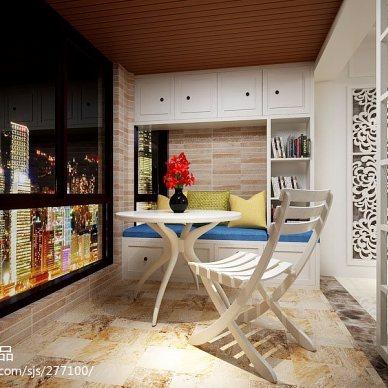 三室两厅阳台桑拿板吊顶装修图片