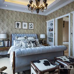 欧式别墅设计卧室壁纸效果图